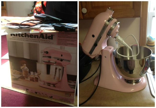 pink kitchenaid mixer